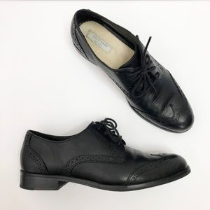 Cole Haan Jagger Wingtip Loafers Black Leather 5.5